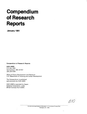 Compendium of Research Reports