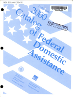 Update to the     Catalog of Federal Domestic Assistance PDF