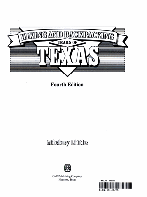 Hiking and Backpacking Trails of Texas PDF