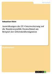 Auswirkungen der EU-Osterweiterung auf die Bundesrepublik Deutschland am Beispiel der Arbeitskräftemigration