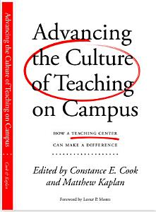 Advancing the Culture of Teaching on Campus Book