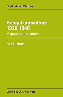 Bengal Agriculture 1920 1946