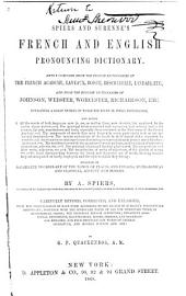 Spier's and Surenne's English and French Pronouncing Dictioanry