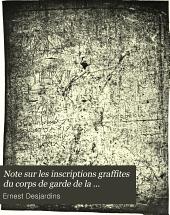 Note sur les inscriptions graffites du corps de garde de la septième cohorte des vigiles (Rome)