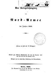 Der kriegschauplatz der nord-armee im jahre 1813: (Hierzu ein heft mit 12 beilagen.) ...