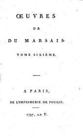 Oeuvres de Du Marsais: Volume6