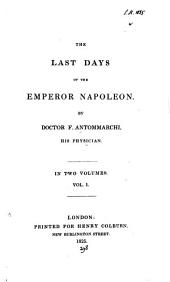 The last days of the emperor Napoleon