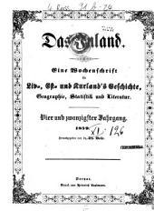 Das Inland: eine Wochenschrift für d. Tagesgeschichte Liv-, Esth- u. Kurlands, Band 24