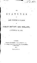 Statutes At Large 29 V In 32 Statutes Or The United Kingdom 1801 1806 1807 1832 Book PDF