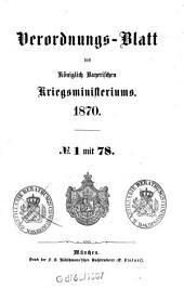 Verordnungs-Blatt: 1870