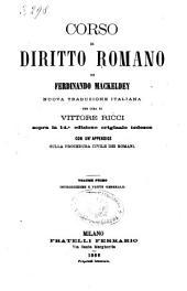 Corso di diritto romano di Ferdinando Mackeldey: Parte speciale e appendice, Volume 1