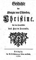 Geschichte der K  nigin von Schweden  Christine PDF