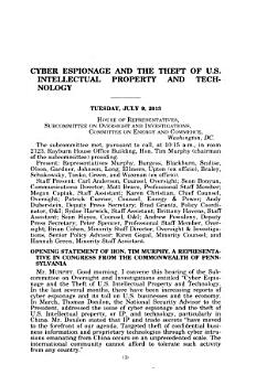 Cyber Espionage and the Theft of U S  Intellectual Property and Technology PDF