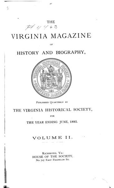 The Virginia Magazine of History and Biography PDF