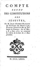 Compte Rendu Des Constitutions Des Jesuites