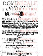 Dominicale concionum pastoralium, Das ist: Sonntag-Predigen, Für Die Seelsorger auff das gantze Jahr: Band 1