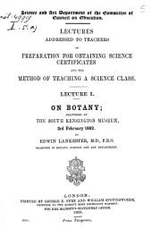 On Botany: Delivered at The South Kensington Museum, 3rd February 1862