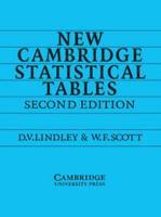 New Cambridge Statistical Tables PDF