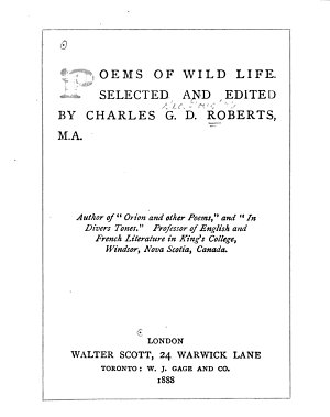 Poems of Wild Life PDF