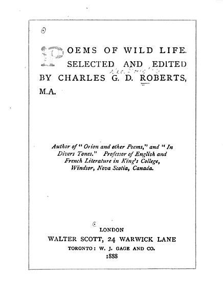 Poems of Wild Life PDF