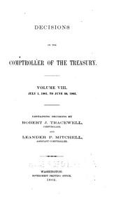 Decisions of the Comptroller of the Treasury: Volume 8