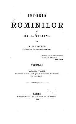Istoria Rom  nilor din Dacia Traiana  Istoria veche PDF