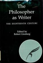 The Philosopher as Writer