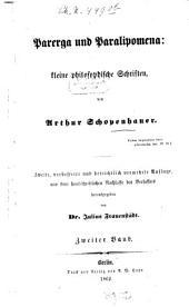Parerga und Paralipomena: kleine philosophische Schriften, Band 2