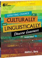 Effecting Change for Culturally and Linguistically Diverse Learners  2nd Edition ebook PDF