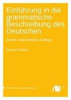 Einf  hrung in die grammatische Beschreibung des Deutschen PDF