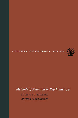 Methods of Research in Psychotherapy
