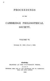 Proceedings of the Cambridge Philosophical Society: Mathematical and physical sciences, Volume 6