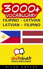 3000+ Filipino - Latvian Latvian - Filipino Vocabulary