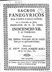 Sacros panegyricos del padre Pablo Señeri de la Compañia de Jesus ...