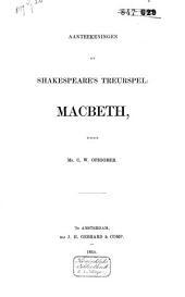 Aanteekeningen op Shakespeare's treurspel: Macbeth