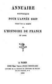 Annuaire historique pour l'année
