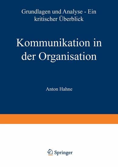Kommunikation in der Organisation PDF