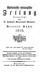 Medicinisch-chirurgische Zeitung: 1816, 4