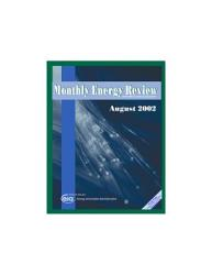 Monthly Energy Review August 2002 Book PDF