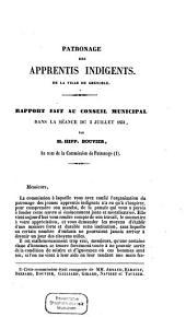 Rapport fait au conseil municipal, dans la séance du 5 juillet 1851