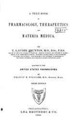 A Text-book of Pharmacology, Therapeutics and Materia Medica