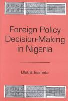 Foreign Policy Decision making in Nigeria PDF