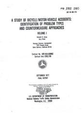 A study of bicycle/motor-vehicle accidents: identification of problem types and countermeasure approaches, Volume 1