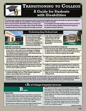 Transitioning to College  A Guide for Students with Disabilities PDF