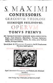 Maximus the Confessor Opera omnia studio Fr. Combefis