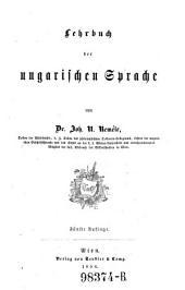 Lehrbuch der ungarischen Sprache