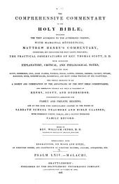 The Comprehensive Commentary on the Holy Bible: Psalm LXIV-Malachi. 1837