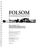 Folsom Lake State Recreation Area and Folsom Powerhouse State Historic Park, General Plan, Resource Management Plan