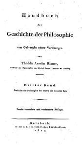 Handbuch der Geschichte der Philosophie: zum Gebrauche seiner Vorlesungen, Band 3