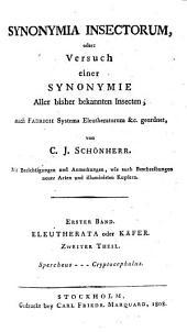 Synonymia insectorum, oder: Versuch einer synonymie aller bisher bekannten insecten, Band 2
